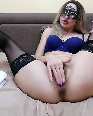 Sweet Sweetie Fucks herself with two Toys