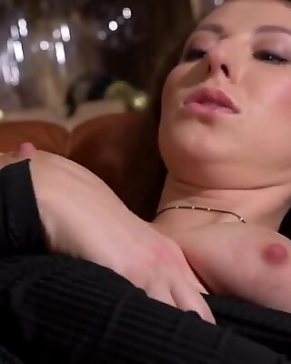 Naughty czech sweetie spreads her narrowed vagina to the unusual