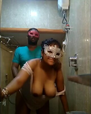 Picked Up yam-sized titty Indian super-bitch Fucked Hard From Behind in Shower