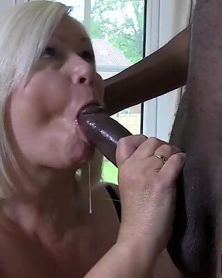 Cock sucking old lady with big tits