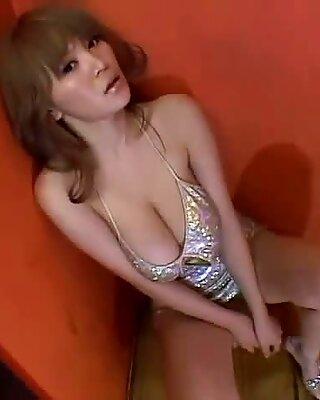 Japanese model Yoko Matsugane poses on cam wearing fancy outfit