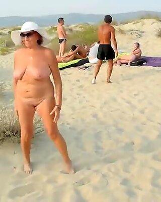 Granny Having Fun Naked On Vacation