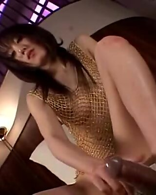 Sky Angel sucking and feet fucking the dude's cock