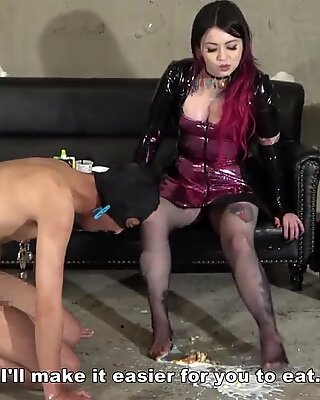 Japanese Femdom CFNM Whipping and Foot Fetish Messy