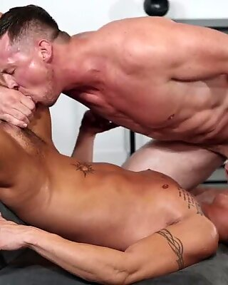 Frisky cock sexy and butt bashing workout