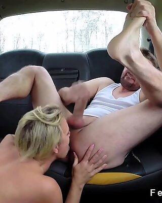 Big boobs cab driver bangs and sucks