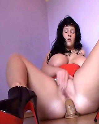 Beautiful German Woman Dildo Anal Fucking