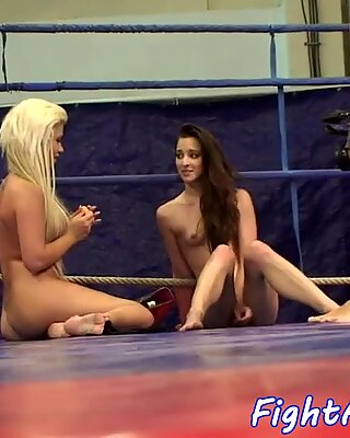 Euro lezzies wrestling and seducing pussies