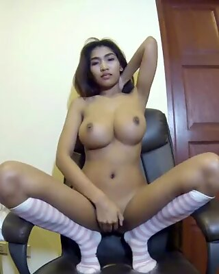 huge boobs on asian cam performer