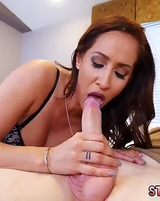 Cheating milf first time She has him munching on her cooch and donk before she trusses