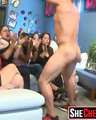 11 Party girls fucking at club with strippers 37