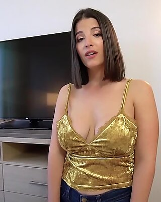 Chubby MILF stepmother makes her stepsons day happy