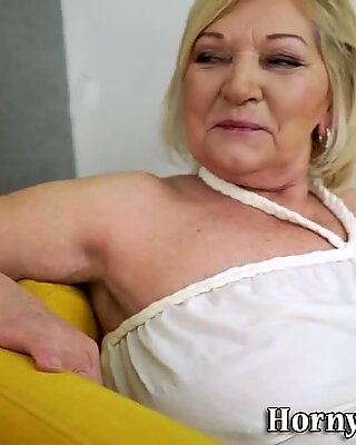 Fat granny gets rammed and licked