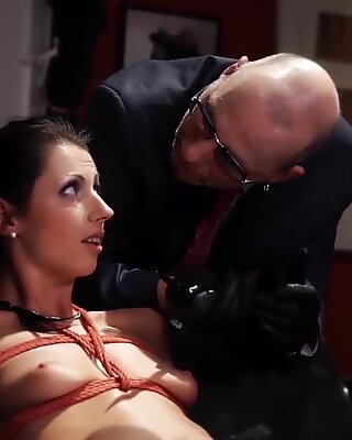 FORBONDAGE July Sun Office Punished By Angry Fetishist Boss