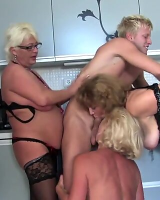 young dude plows 3 sexy MOM mom and MOM