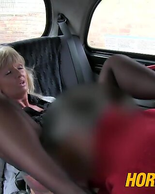 HornyTaxi Mature light-haired mom has the rail of her life
