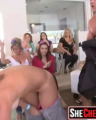 16 Milfs take loads in the face at secret sex party 28