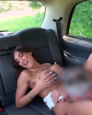 Fake Taxi Sexy Brunette Princess Jas and her big tits