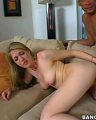 Divine blonde beauty Haley Scott does anal with huge BBC
