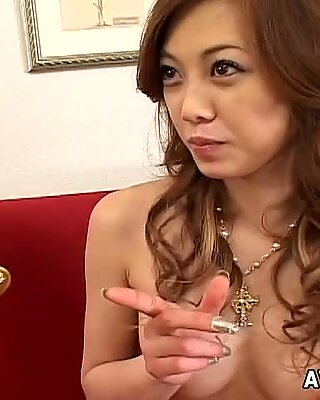 Crazy nympho loves to get orgasms from the touch of someone else's hands.