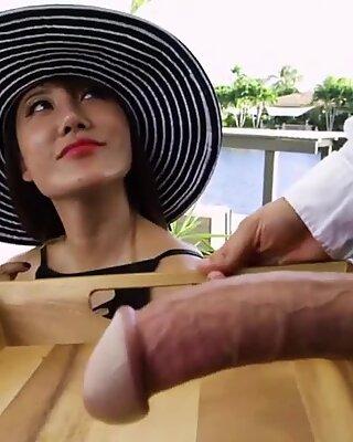 Busty Asian boss Tiffany Rain gets her wealthy pussy pleased - Busty Tiffany