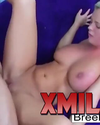 Busty Bree Olson keeps her heels on as she gets fucked by XMILF.US