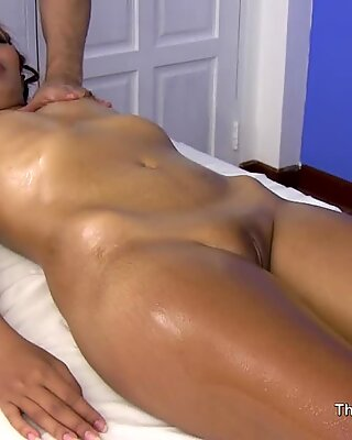 asian lady massage client gets more than she expected