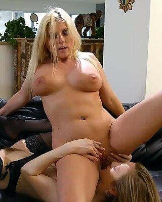 Blonde Chick Sticks A Big Dildo In Her Pussy
