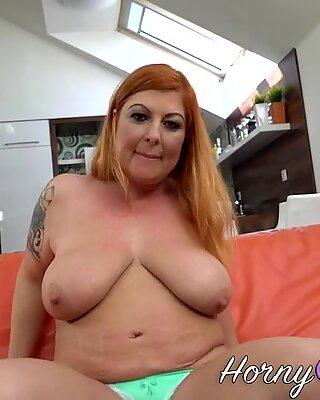 Busty redhead gilf blows