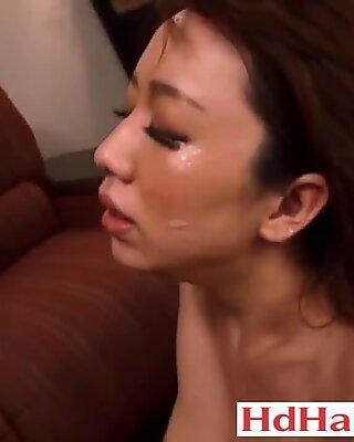 Japanese stepmother threesome