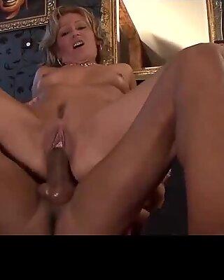Deep penetrated cum bucket of juicy Mature bitch camel toe