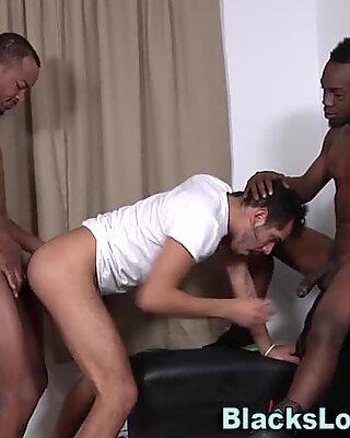 Threeway whitey spermed