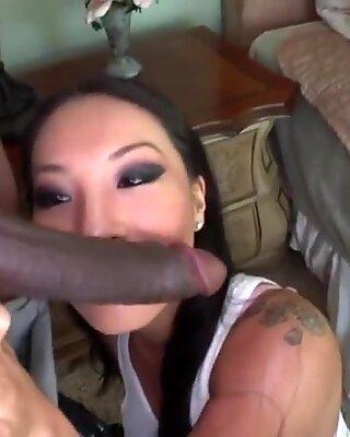 Asa Akira takes Monster Cock