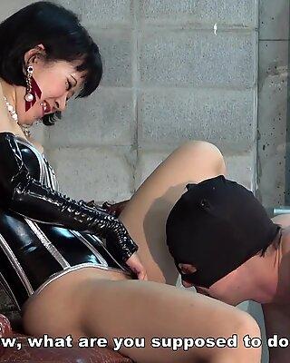 Japanese Femdom Hana Facesitting and Cunnilingus