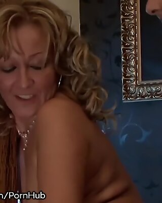sex-positive grandmother Gives Rimjob and Takes it rectally