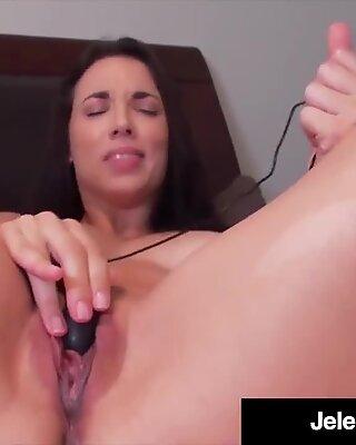 Busty Penthouse Pet Jelena Jensen Cums with Black Vibrator!