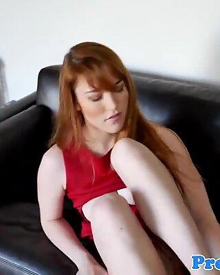 Ginger realtor cockriding her house client