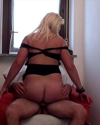 LETSDOEIT - Chubby Italian Wife Abuses Neighbor's Cock