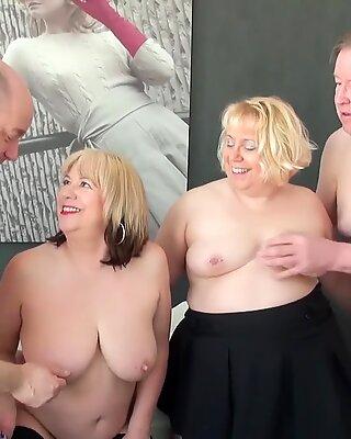 Agedlove Red-Hot Матурки Триша и Лекси Каммингс Groupsex
