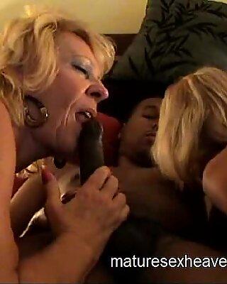 Old Ladies Share Black Dick