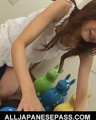 Horny Japanese MILF has a blast sucking two guys
