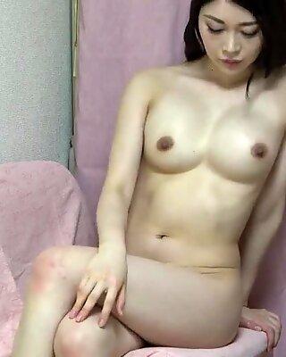 Busty Japanese Girl Naked and Showing Beautiful Natural Tits