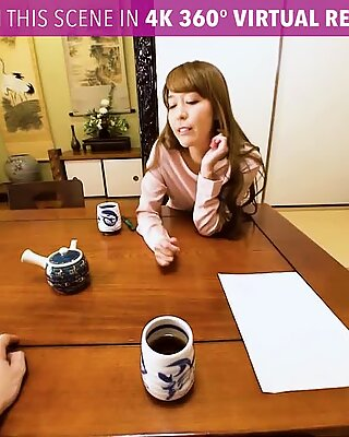 VR PORN - Japanese MILF Creampied and Squirts Hard