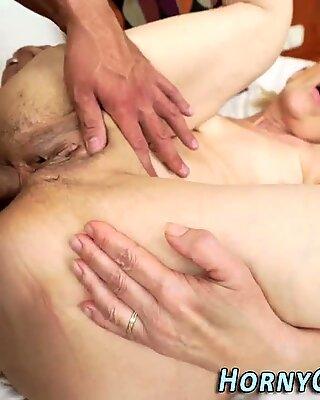 Ass toyed granny buttfuck